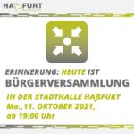 Impressionen von der Bürgerversammlung der Stadt Haßfurt am 11. Oktober 2021